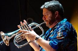 Jazz Consortium Big Band's trumpeter