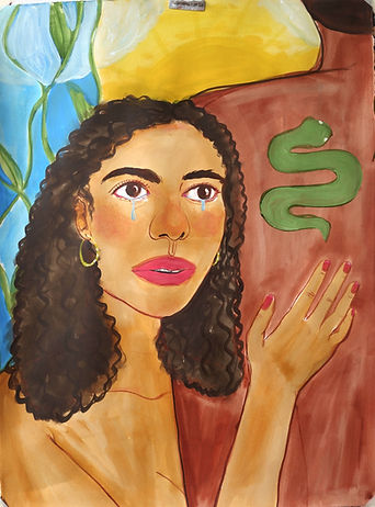 snake serpiente Monica Hernandez artist great gal