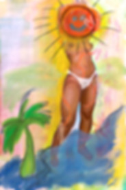 beach Monica Hernandez artist great gal