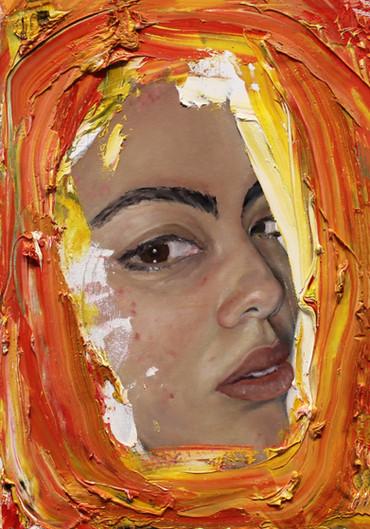 orange Monica Hernandez artist great gal