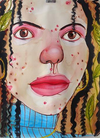 pimples Monica Hernandez artist great gal