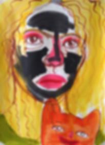 face mask Monica Hernandez artist great gal