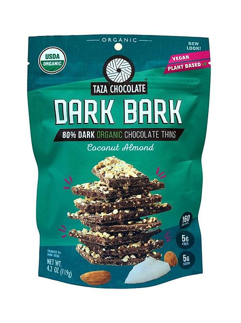 Taza Dark Bark Coconut Almond