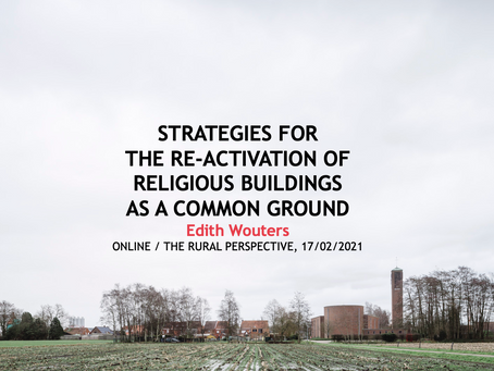Presentation symposium 'Reusing Churches. New Perspectives in a European Comparison'
