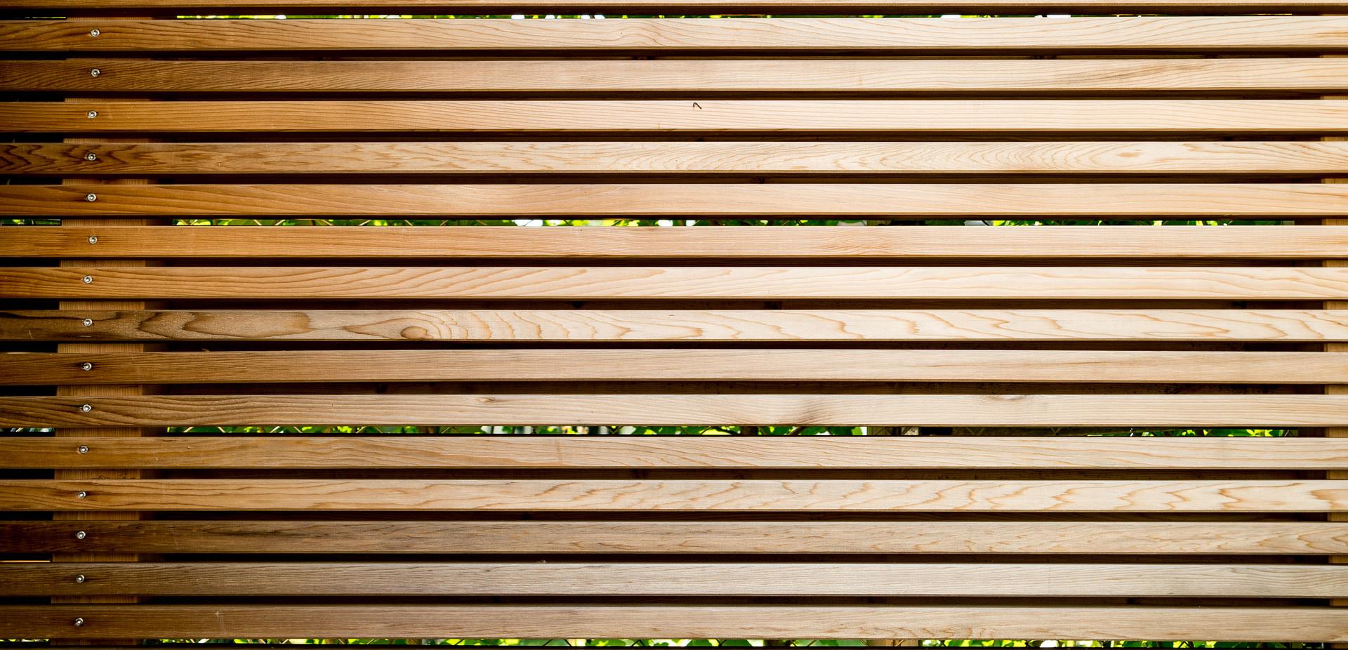 Holzsichtschutz Detail