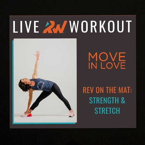 """Virtual """"Rev on the Mat"""" with Devon - Friday@8:30am"""