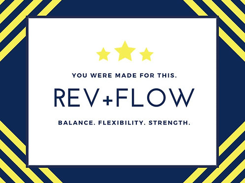 Virtual REV+FLOW®  with Kat - Tuesday @9:30am
