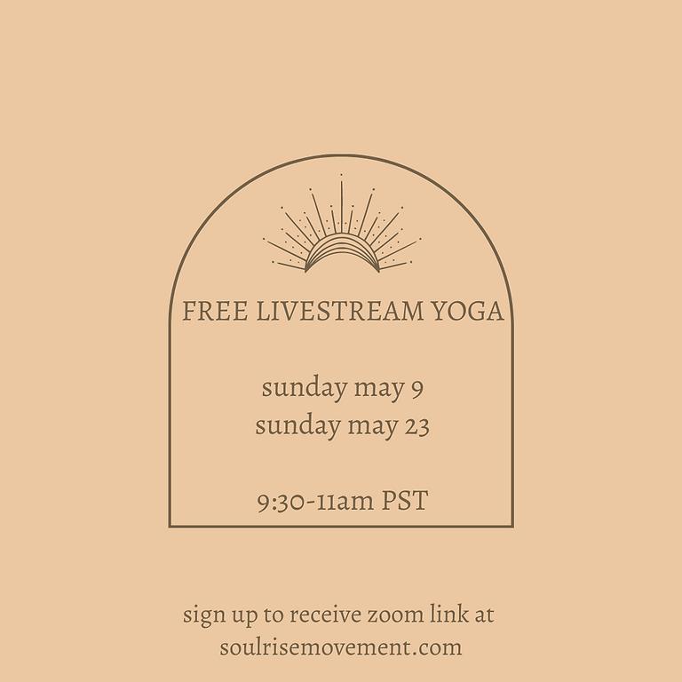 FREE SUNDAY YOGA - MAY 23