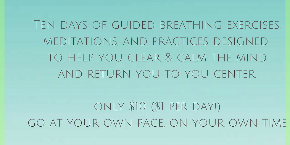 10 Day Mind Cleanse Challenge