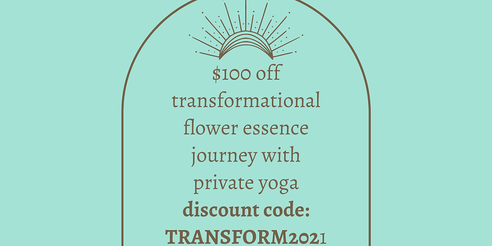 3-month Transformational Flower Essence Journey with Private Yoga