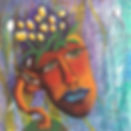 Maria-Patino-art-on-canvas-face-flowers-planet-earth-growing-evolution-mixed-media-multi-media