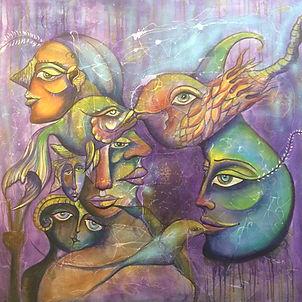 Maria Patino Art on canvas