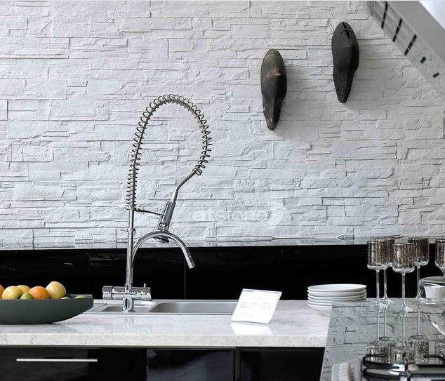 Küche   Weisse Steinoptik