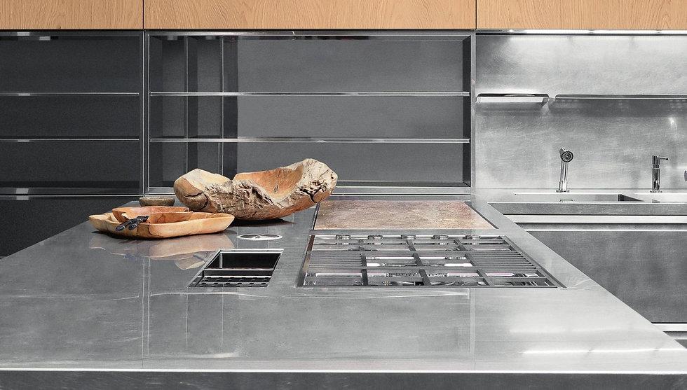 Edelstahl Kochinsel mit Xera Design Küche