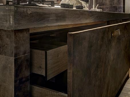 Leder- Designküche