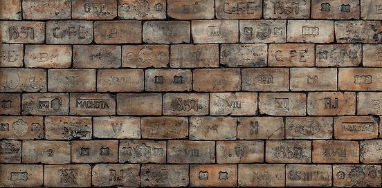 Kaiserziegel Wandpaneele - Backsteinziegel Paneele mit Stempel