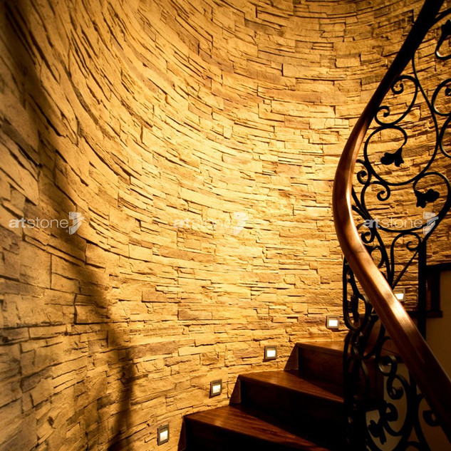 Dekorative Kunststeinwand