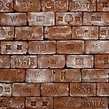Kaiserziegel Wandpaneele - Kunststoff Ziegelpaneele mit Stempel