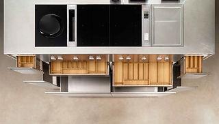 Moderne Designküche mit Kochinsel - Xera Küche Monolit Isola