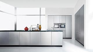 Schlichte Stahl Küche