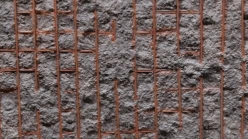 Stahlbeton mit Stahlbewehrung Kunststoff Wanpaneele