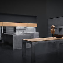 Hochwertige Küchen mit Kochinsel - Xera Designküche Monolit hand brushed