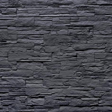 3D Steinpaneele schwarz