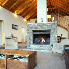 Moonlight Lodge Lounge, perfect place to kick your feet up and relax after a long day riding