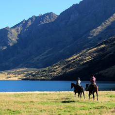 Riding along Moke Lake