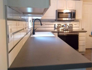 Kitchen remodel with concrete countertops