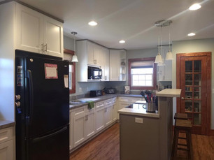 Re-faced kitchen