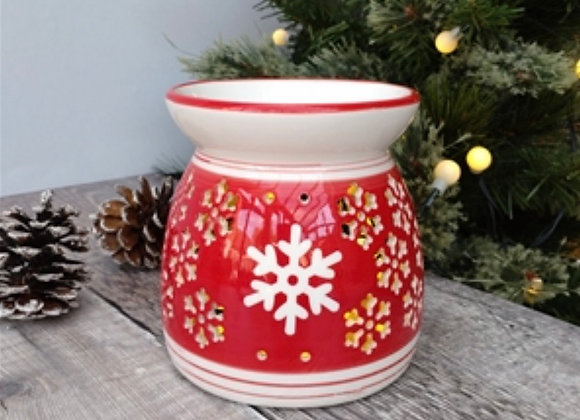 Large Ceramic Snowflake Cut Out Wax Warmer