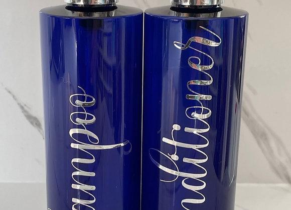 Blue Bathroom Bottles - 250ml