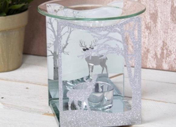 Glass Winter Deer Wax Warmer