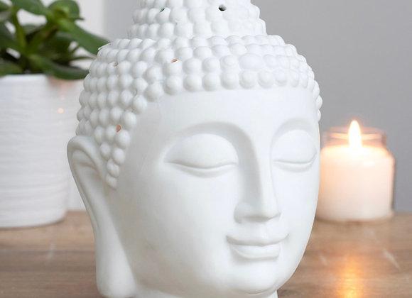 Large Matt White Buddha Head Wax Warmer
