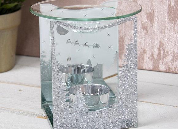Glass Winter Wonderland Wax Warmer