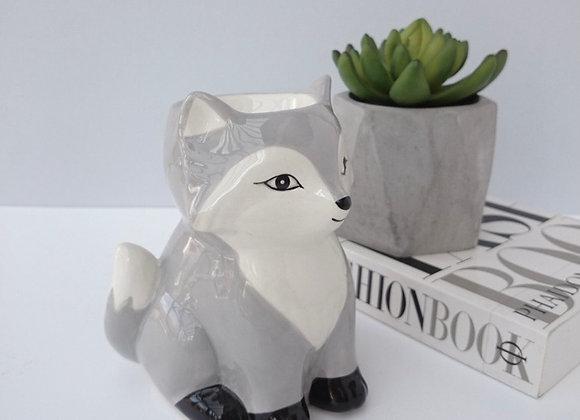 Ceramic Grey Fox Wax Warmer
