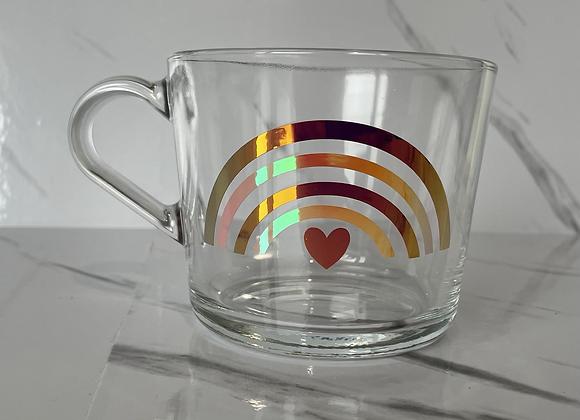 Large coffee cup  - pink rainbow