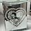 Thumbnail: Silver Glitter Heart Wax Warmer
