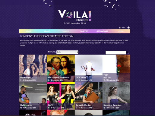 VOILA! - LONDON'S EUROPEAN THEATRE FESTIVAL