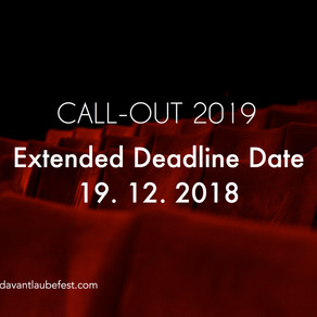 CALL OUT 2019 ! Extended Deadline