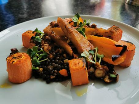 Linsenragout mit Paprika, Karotten und Sellerie