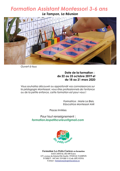 Formation Assistant 3-6 ans 2019-2020 (2