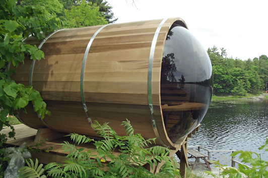 Panoramic Barrel Sauna