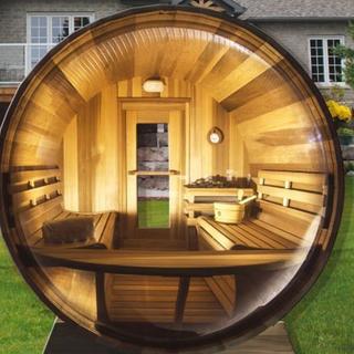 interior barrel sauna