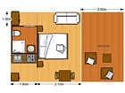 5x5m Hotel Safari Tent with bathroom