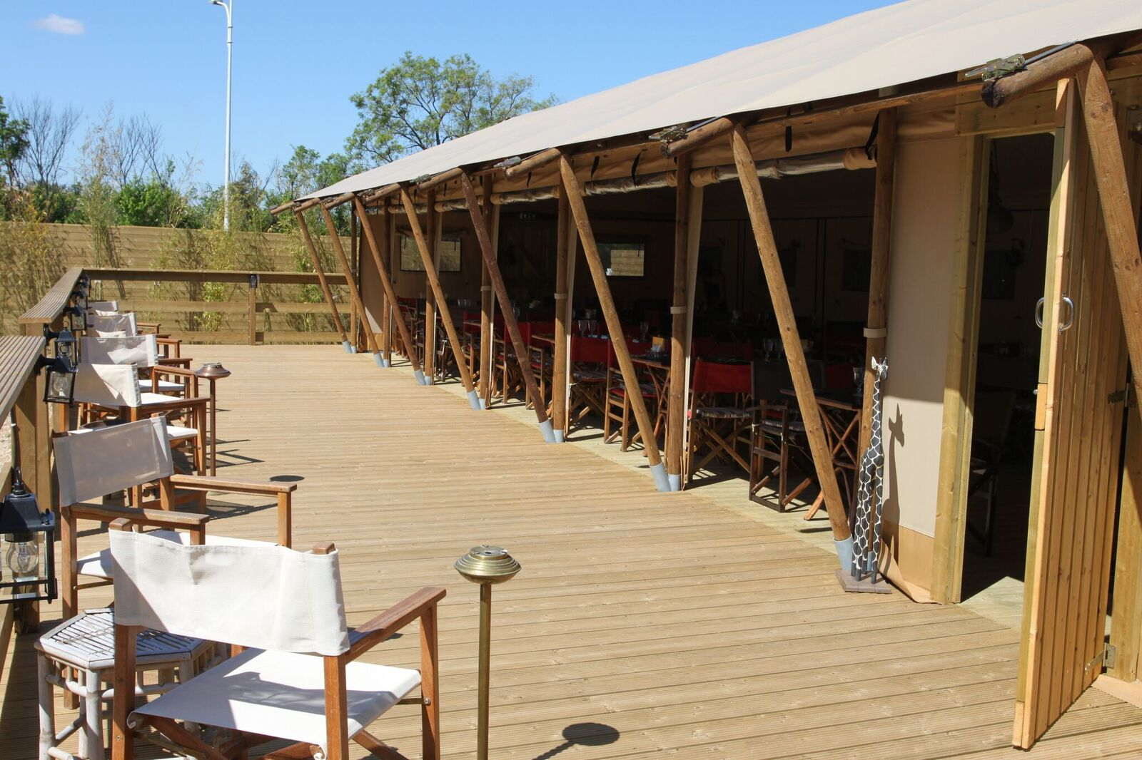 Restaurant tent verandah