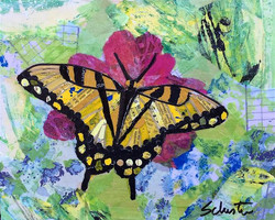 Yellow butterfly   SOLD