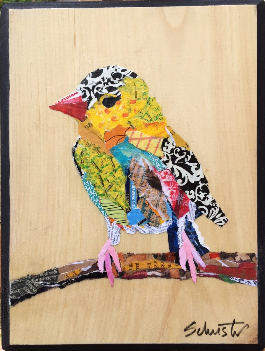 Bird on twig   SOLD