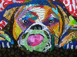 Bulldog on the edge   SOLD